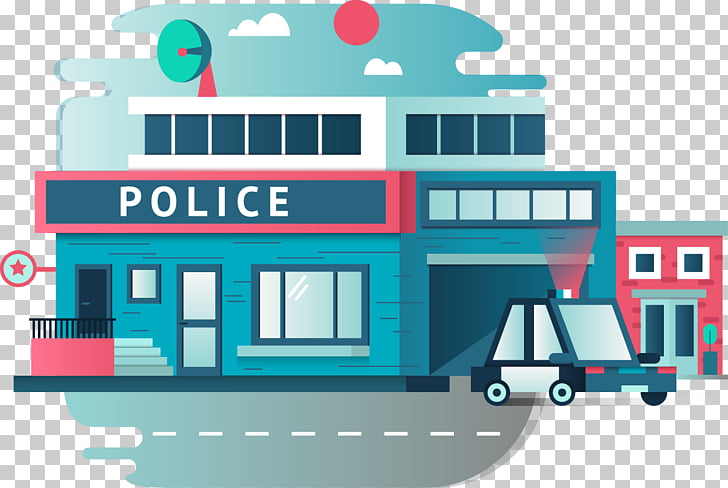 Police station Police officer , Cartoon Police, Police.