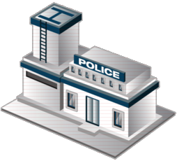 418 Police Station free clipart.