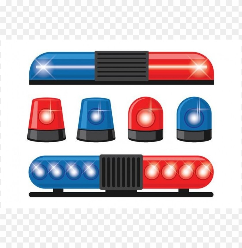 police lights clipart PNG image with transparent background.
