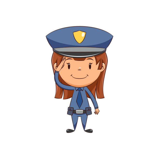 Best Policewoman Illustrations, Royalty.