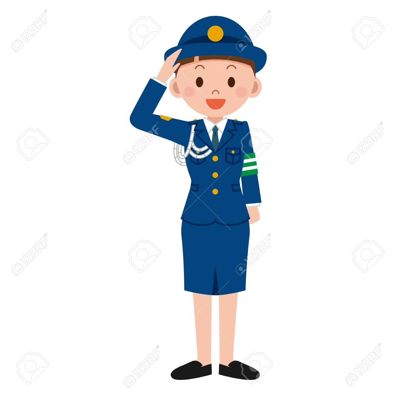 Female Police Clipart.