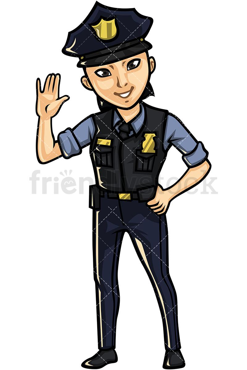 Asian Female Police Officer.