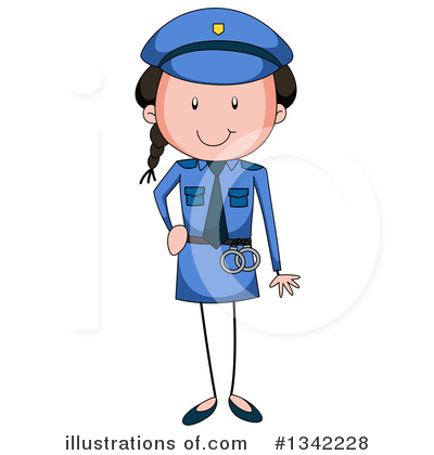 Police Woman Clipart #1342228.
