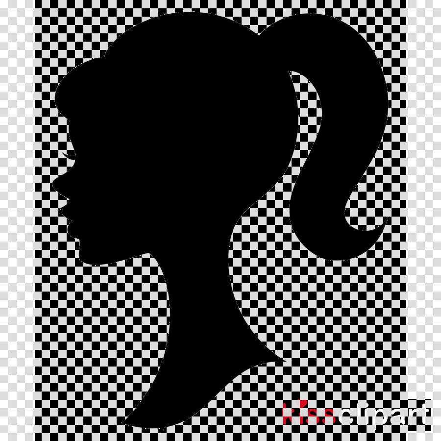 Ponytail, Decorative Silhouettes, Hair, Transparent.