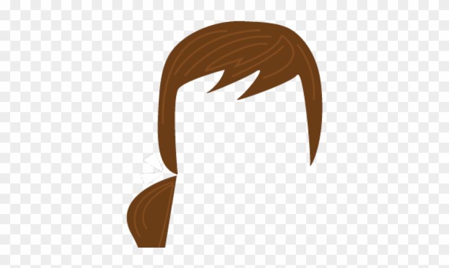 Brown Hair Clipart Ponytail.