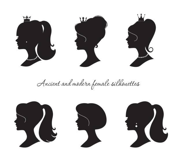 Best Ponytail Illustrations, Royalty.