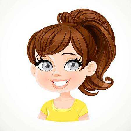 5,996 Ponytail Stock Illustrations, Cliparts And Royalty Free.