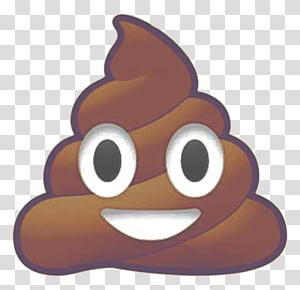 Poop emoji transparent background PNG clipart.