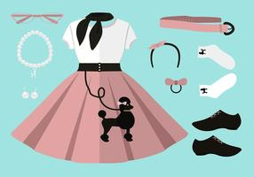 Poodle Skirt Free Vector Art.