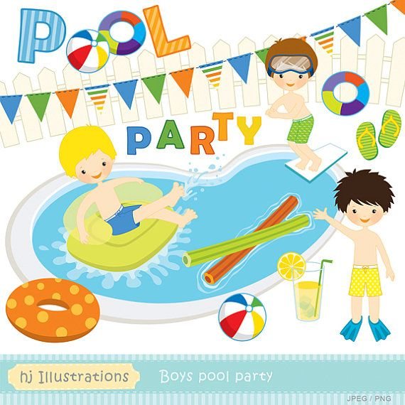 clipart pool party free #7