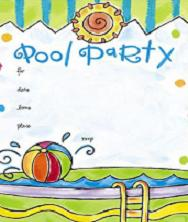 clipart pool party free #4