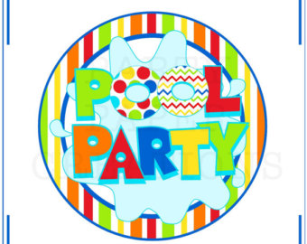 Pool party free clipart.