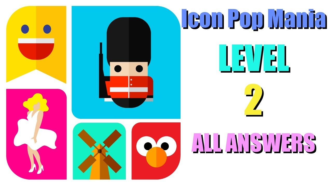 Icon Pop Mania 2 level ALL ANSWERS Walkthrough [iPhone, iPad.