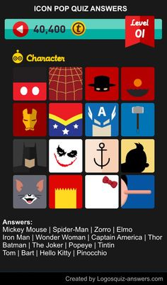 Clipart Pop Quiz Answers Characters.