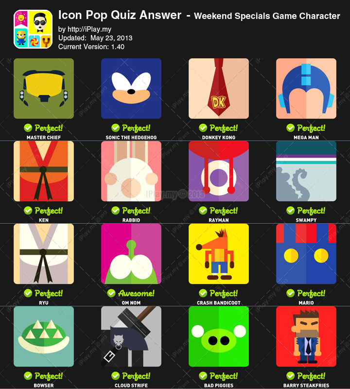 Icon Pop Brand Level 1 Answers.