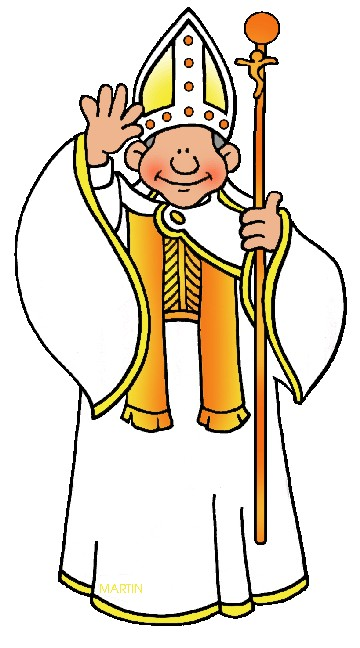 Collection of Pope clipart.