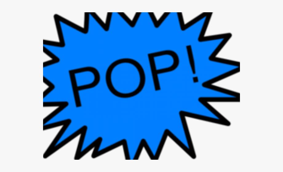 Pop Art Clipart Balloon Burst.