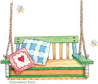 Porch clipart porch swing #6.