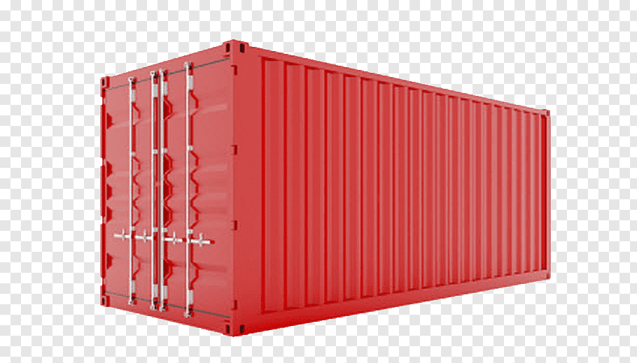 Intermodal Container Red, Shipping Containers, Intermodal.
