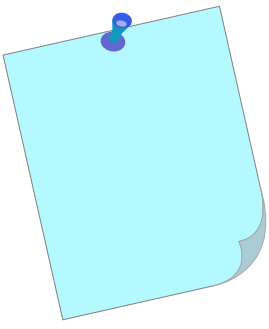 Blue Post It Note Clipart.