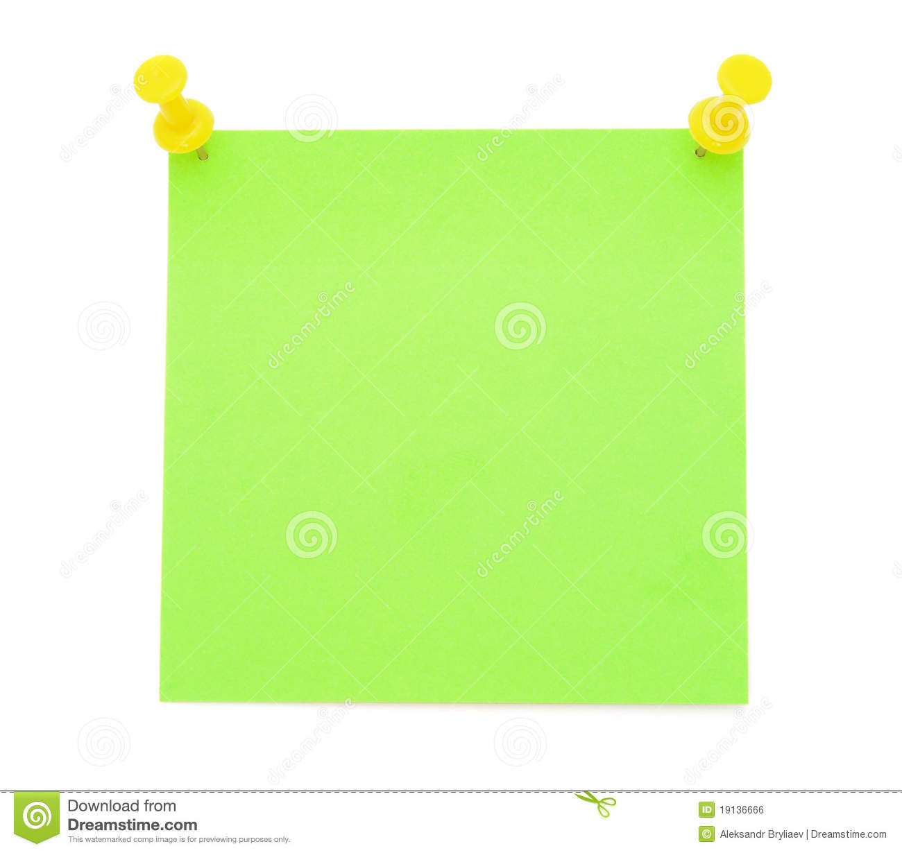 Post It Note Clipart Green.