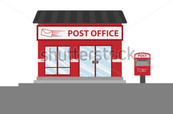 Building clipart post office, Building post office.