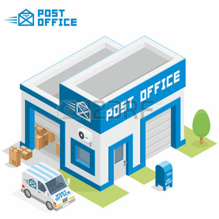 843 Post Office Building Stock Illustrations, Cliparts And Royalty.