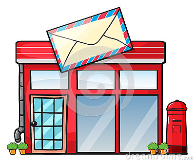 Post Office Building Clipart.