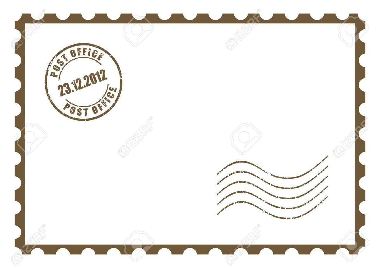 Blank postcard.