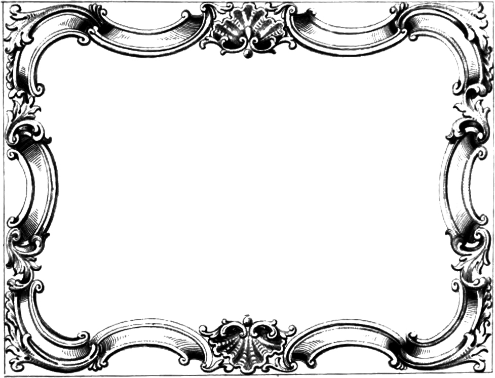 vintage frame clipart free - Clipground