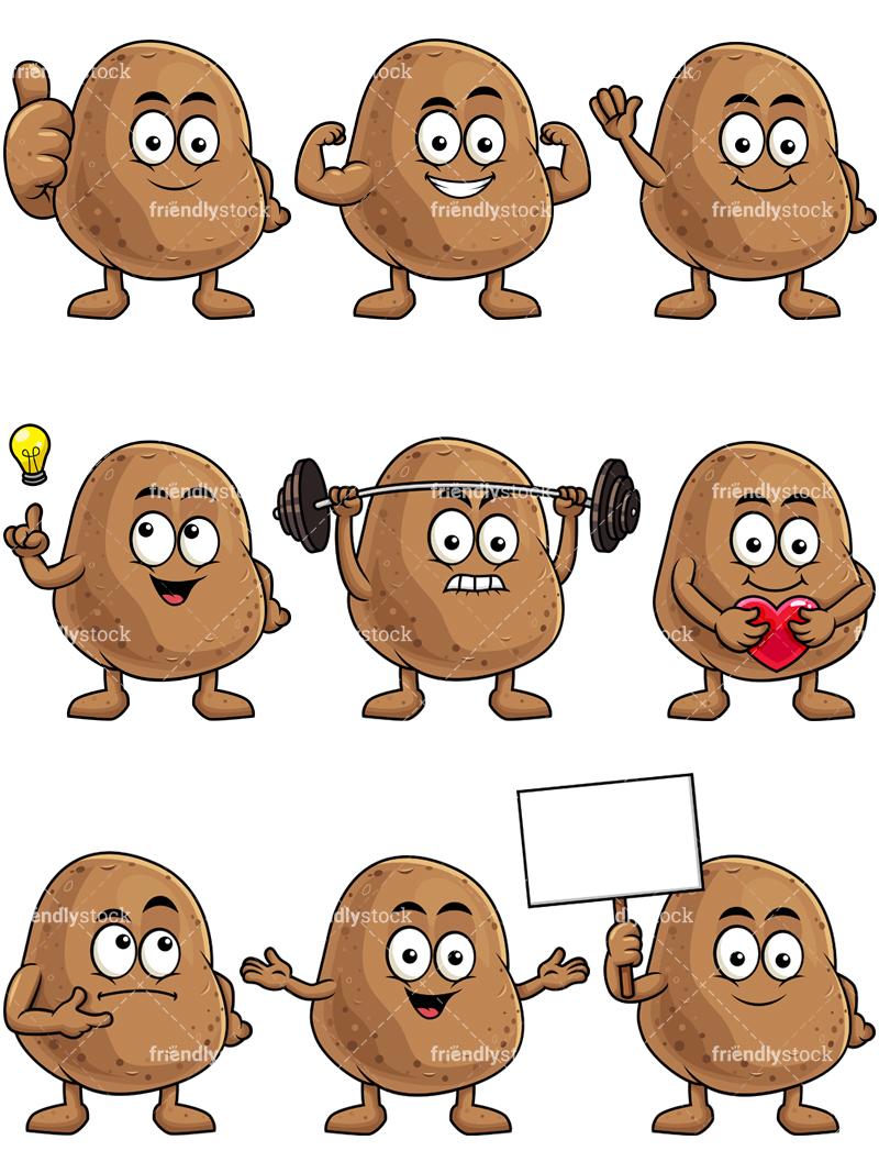 Potato Mascot Collection.