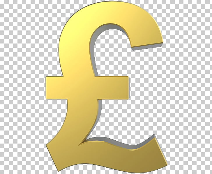 Pound sign Pound sterling Gold Euro sign, gold PNG clipart.