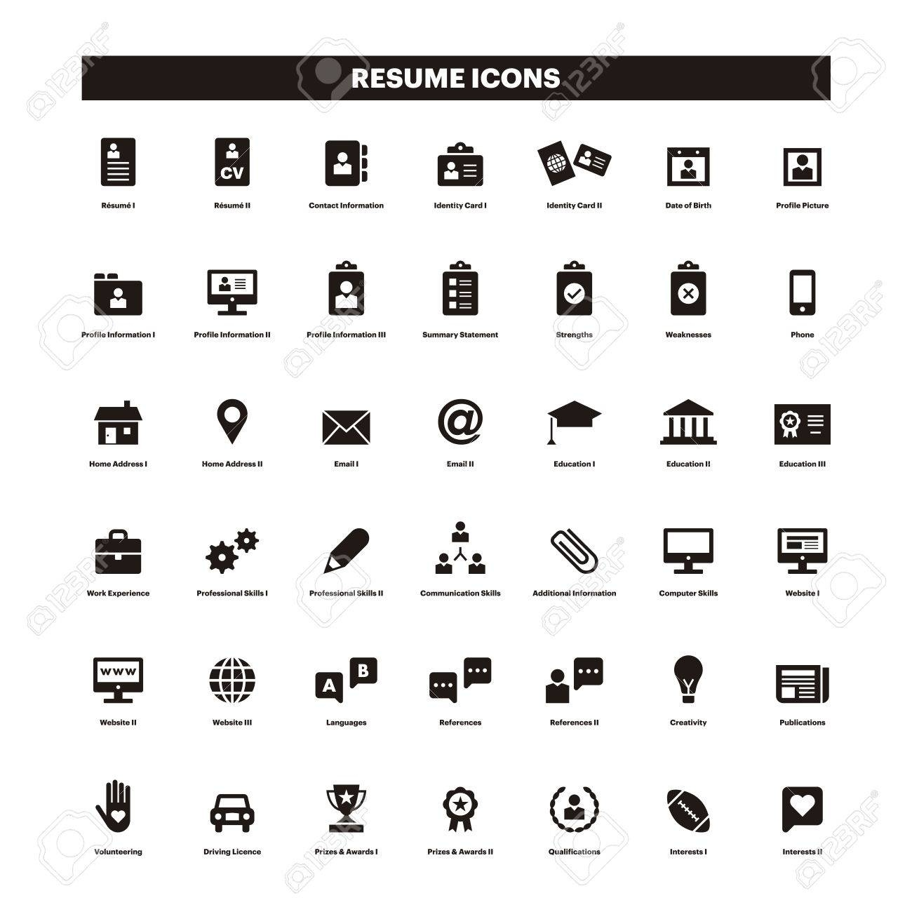 Icons For Resume.