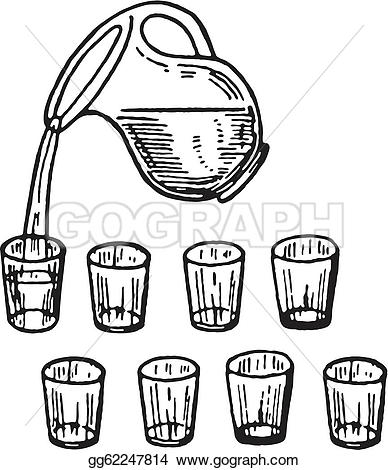 Pouring Water Stock Illustrations.