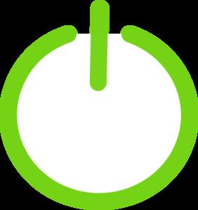 Green Power Button Clip Art at Clker.com.