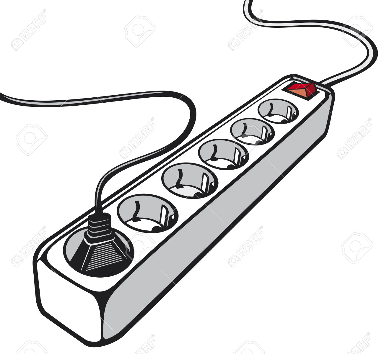 Showing post & media for Cartoon power cord clip art.