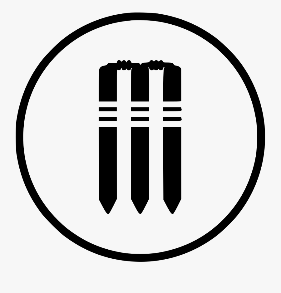 Cricket Stumps Wicket Bails One Day Test Svg Png Icon.