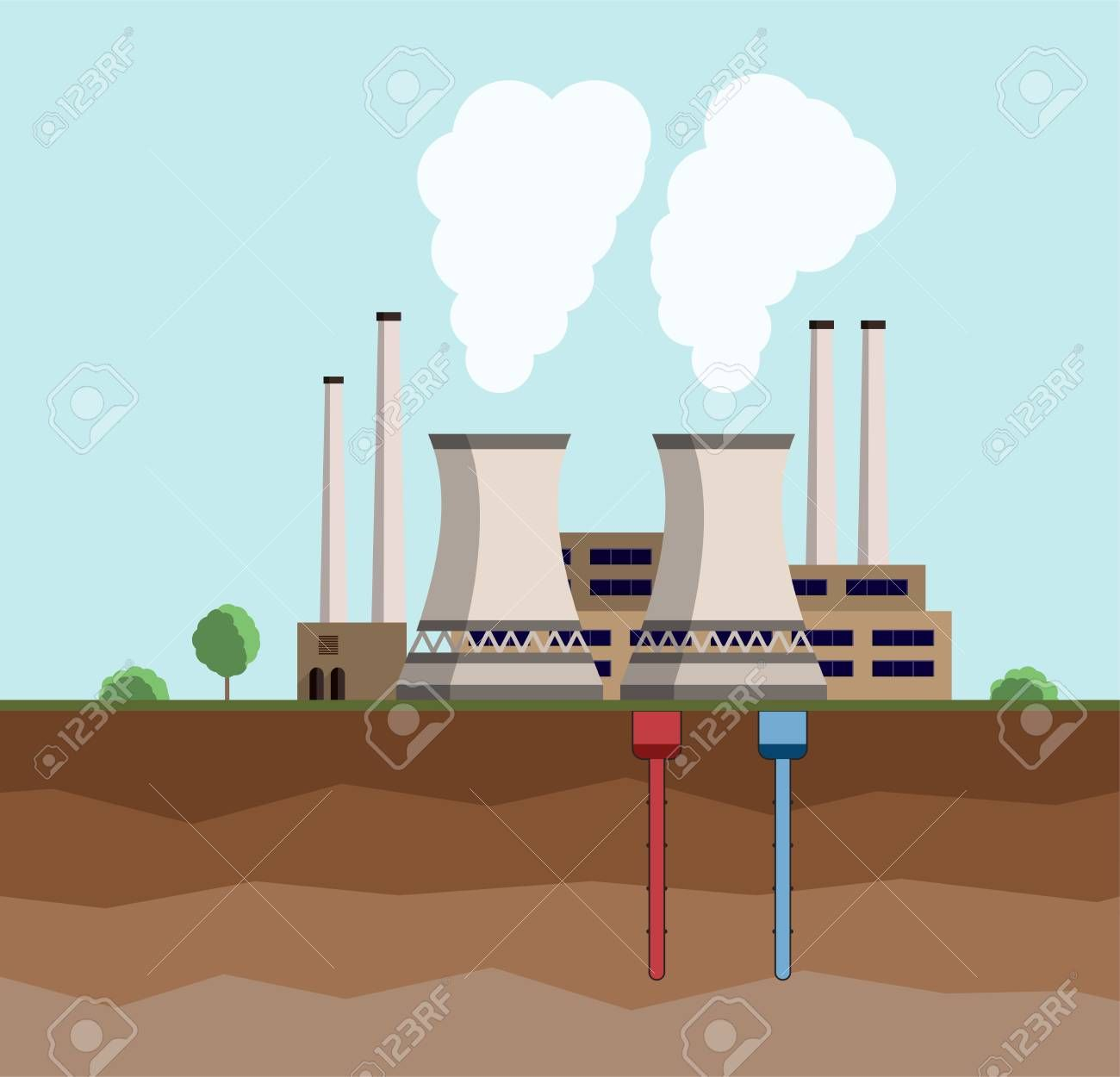 clipart geothermal power.
