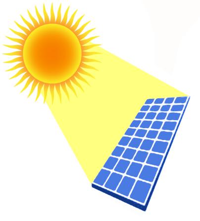 Solar Power Plant Clipart.
