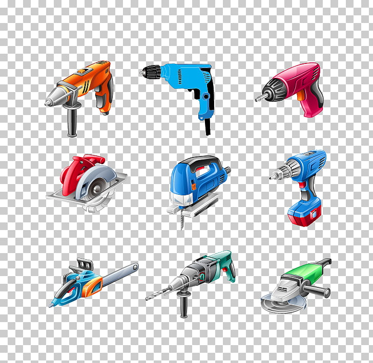 Hand tool Electricity Power tool, Power Tools material PNG.