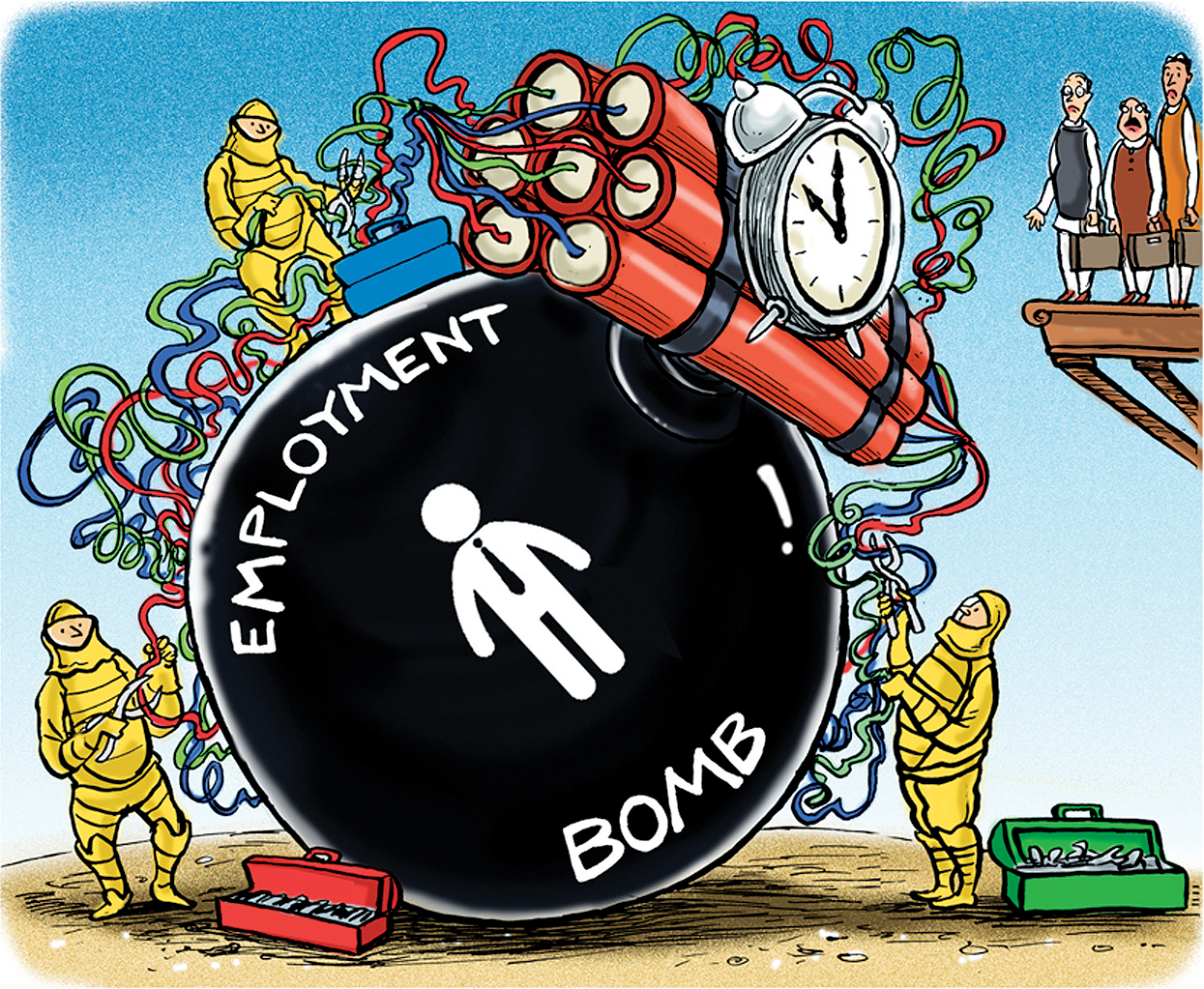 Just some clever lines? India faces a scary jobs crisis.