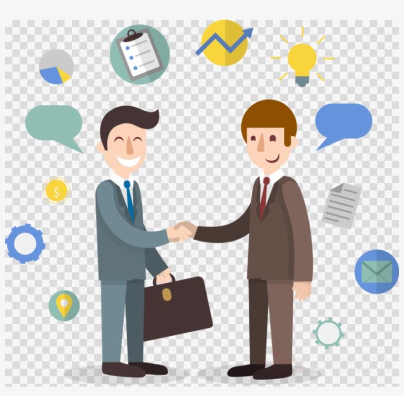 Cartoon Handshake Clipart Handshake Businessperson.