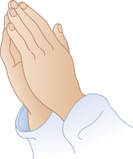 Praying hands clipart.