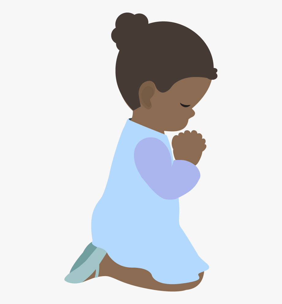 Children Praying Clipart.
