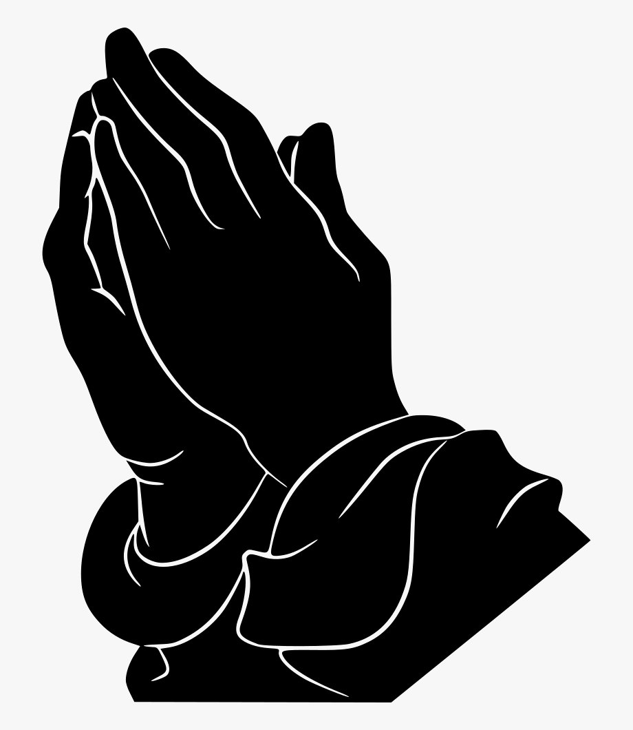 Download Free Png Black And White Praying Hands Clipart.