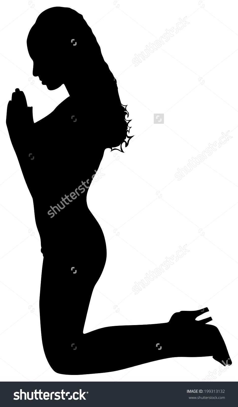 clipart praying woman - Clipground