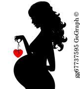 Pregnant Silhouette Clip Art.