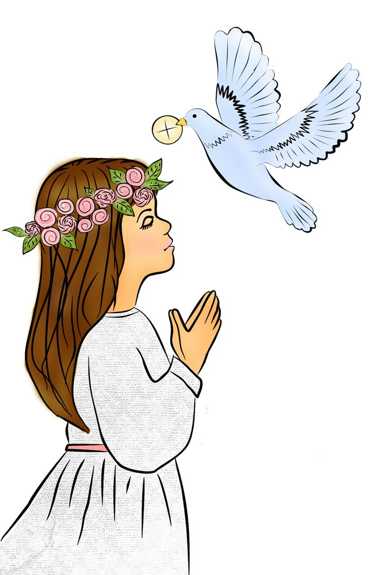 First Holy Communion Girl Clipart.