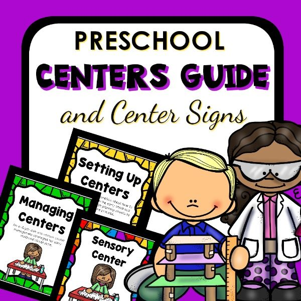 Preschool Centers Guide with Center Signs.
