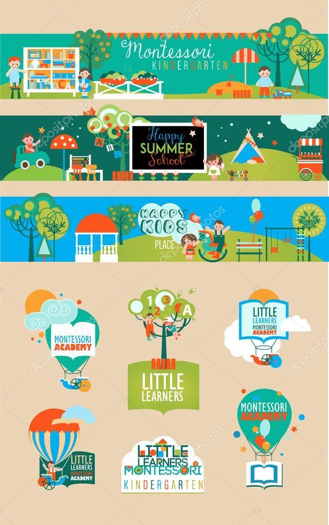 Clipart: preschool learning centers.